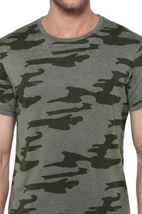 Mens Round Neck Camouflage T-shirt