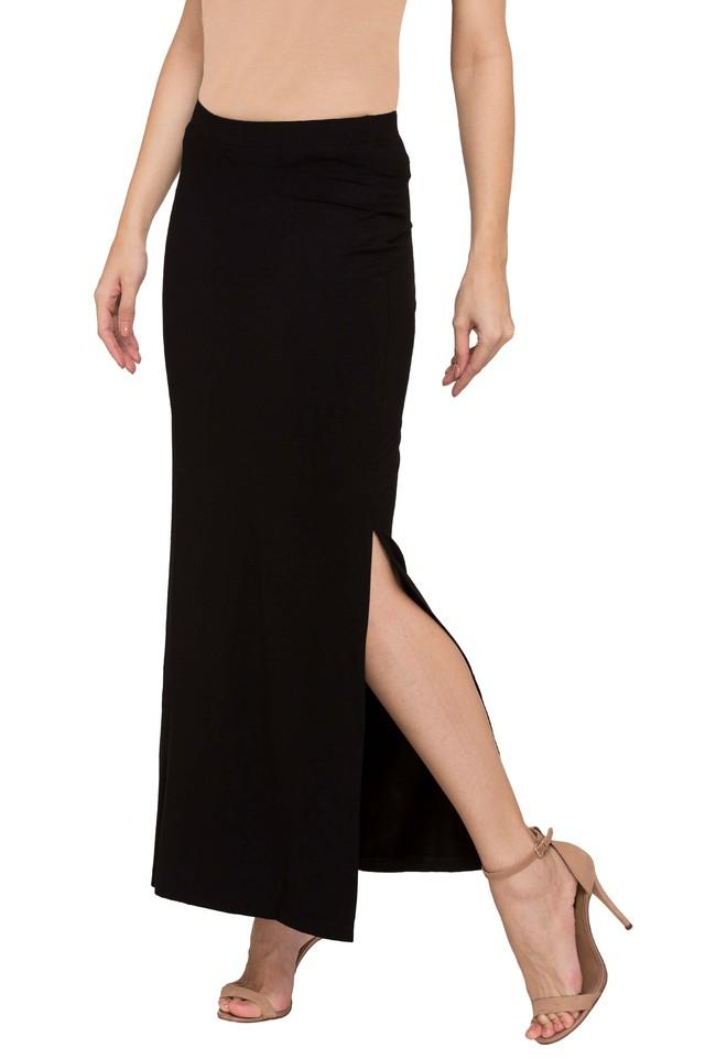 Womens Solid Long Skirt