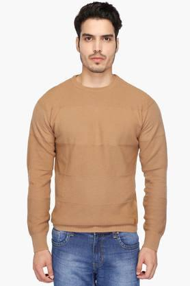 INDIAN TERRAINMens Round Neck Solid Pullover