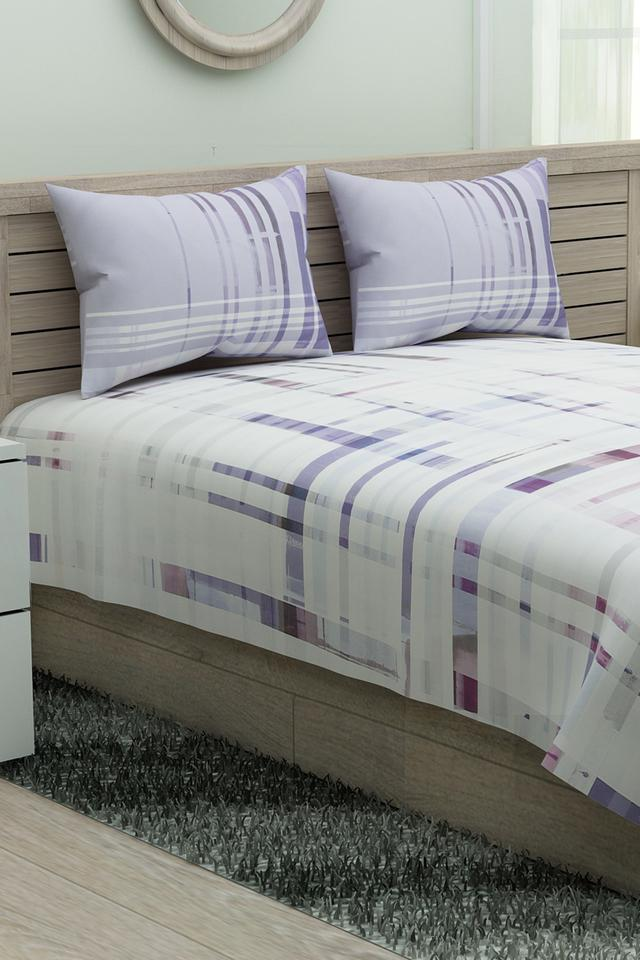 Printed Double Bed Sheet with Pillow Covers