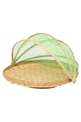 BACK TO EARTH Round Fruit Basket With Net Cover - 38 Cms