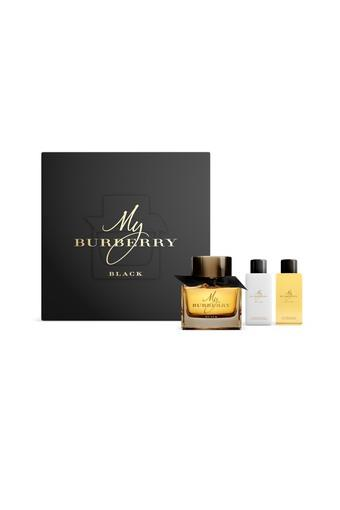 Womens My Burberry Black Parfum - 90ml + Body Lotion - 75ml & Shower Gel Set