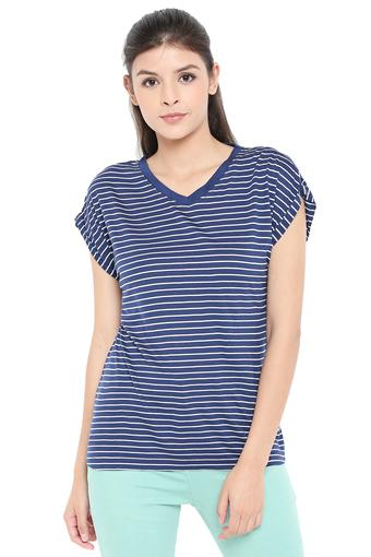 ELLIZA DONATEIN -  Navy Tops & Tees - Main