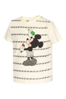 Boys Round Neck Printed Tee