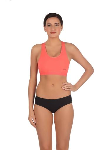 Womens Solid Non Wired Non Padded Sports Bra
