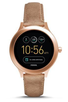FOSSILWomens Q Venture Sand Leather Gen 3 Smart Watch - FTW6005