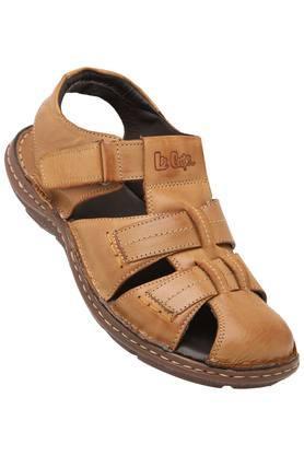 LEE COOPERMens Leather Velcro Closure Sandals - 203912137_9124
