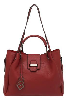 FEMINA FLAUNT Womens Zipper Closure Tote Handbag With Pouch