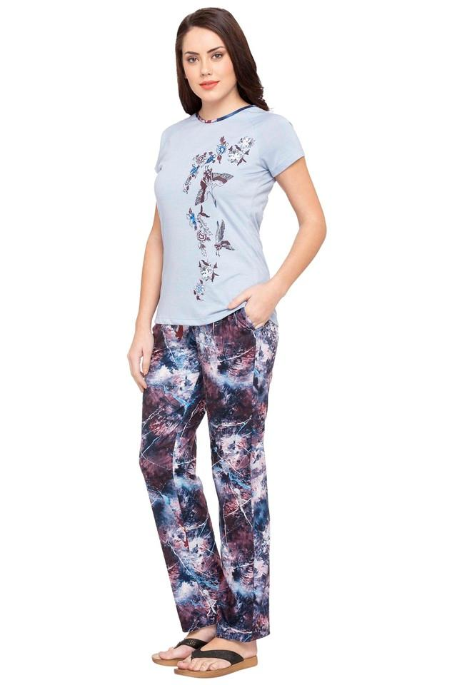 Womens Printed Pyjamas & Top Set