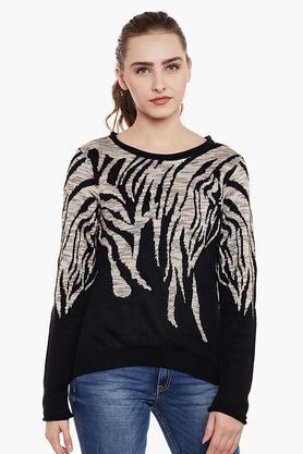 LATIN QUARTERSWomens Round Neck Sweater