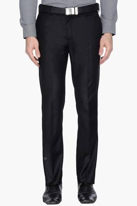 BLACKBERRYS Mens Slim Fit 4 Pocket Solid Formal Trousers - 202744690