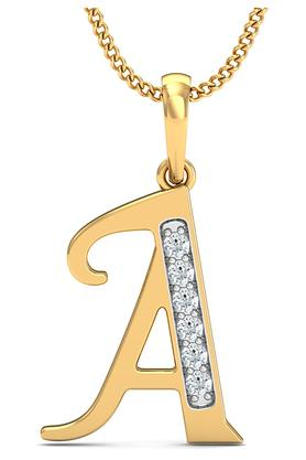 P.N.GADGIL JEWELLERS Womens The 'A' Diamond Pendant DJPD-70