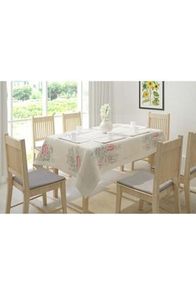 SWAYAM Floral Printed Table Cover - 4 Seater