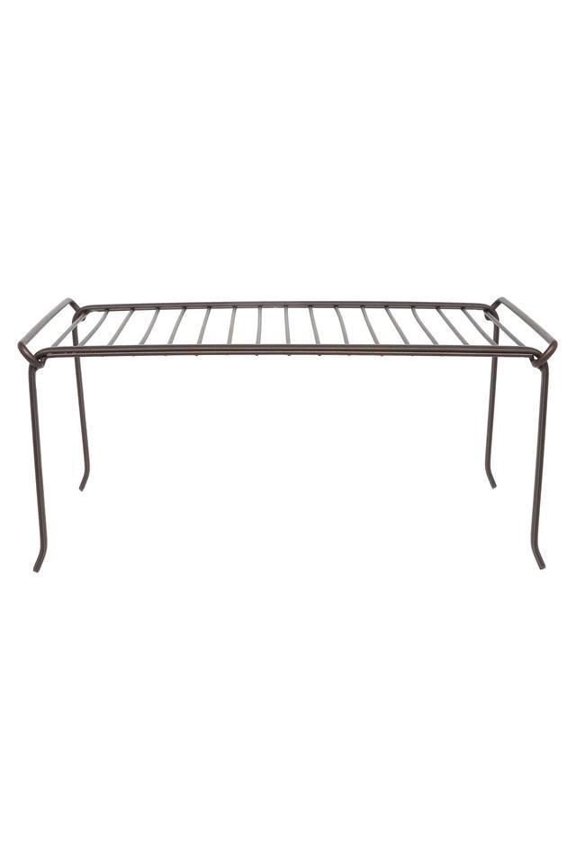 Metallic Grid Stackable Shelf