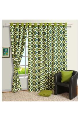 Geometric Print Long Door Curtain