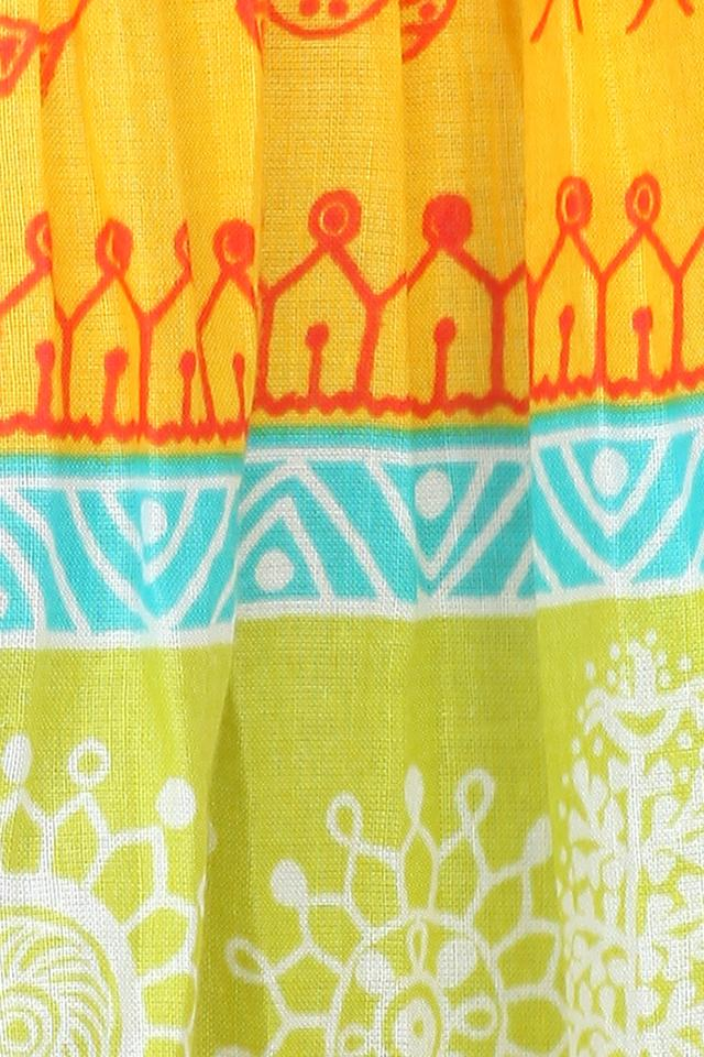 Girls Printed Long Skirt