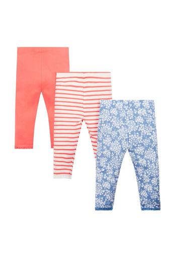 9db53d79ebfce Buy MOTHERCARE Girls Striped Printed and Solid Leggings - Pack Of 3 |  Shoppers Stop