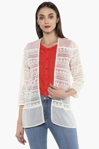 Womens Front Open Lace Shrug
