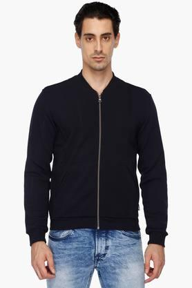GAS Mens Mao Collar Solid Sweatshirt