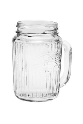 Round Vintage Jar with Handle - 400ml