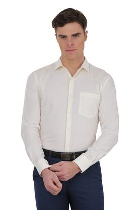 Mens Slim Fit Self Printed Formal Shirt