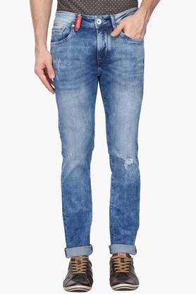 FLYING MACHINE Mens Slim Tapered Fit Stone Wash Jeans (Micheal Fit)