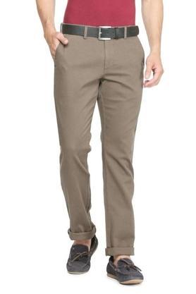 ALLEN SOLLYMens 4 Pocket Regular Fit Solid Trouser