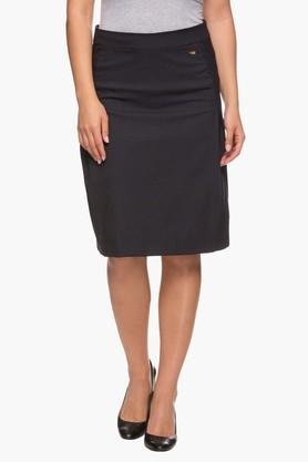 PARK AVENUE Womens Solid Knee Length Skirt - 203123088_8394