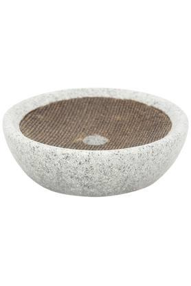 Alvina Slub Stone Finish Oval Soap Dish