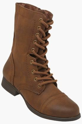 STEVE MADDENWomens Casual Wear Lace Up Boots