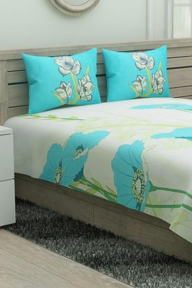 Floral Print Double Bedsheet with 2 Pillow Covers