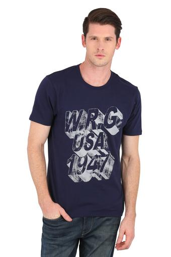 WRANGLER -  Navy T-shirts - Main