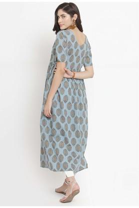 Women Cotton print A-line Kurta