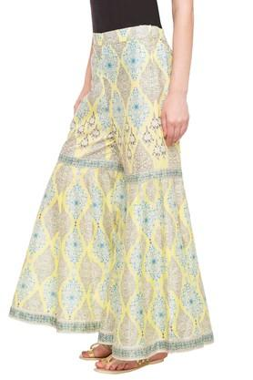 Womens Printed Sharara Pants