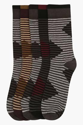 VETTORIO FRATINI Mens Stripe Socks Pack Of 5