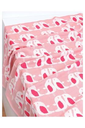 Unisex Knitted Printed Blanket