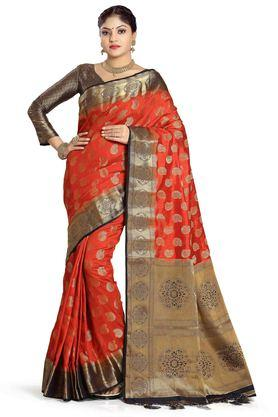 DEMARCA Womens Art Silk Tussar Designer Saree - 204100134_9508