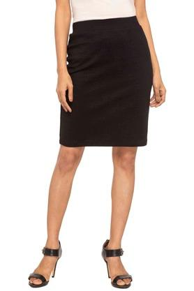 STOP Womens Solid Casual Skirt