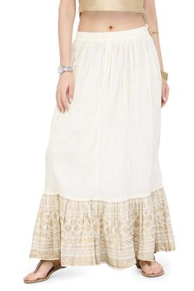 VARANGAWomen Wrinkled Mid-rise Skirt
