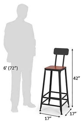 Brown Hauten Bar Chair
