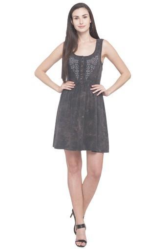 Womens Scoop Neck Assorted Skater Dress