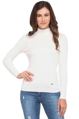 ELLE Womens High Neck Knitted Sweater