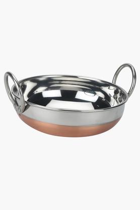 Round Steel Kadai with Handles