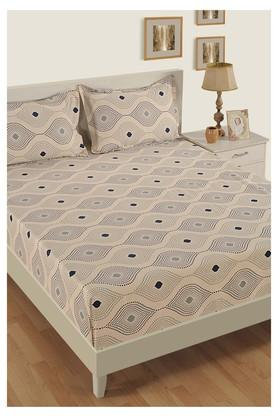Printed Double Extra Large Bed Sheet with 2 Pillow Covers