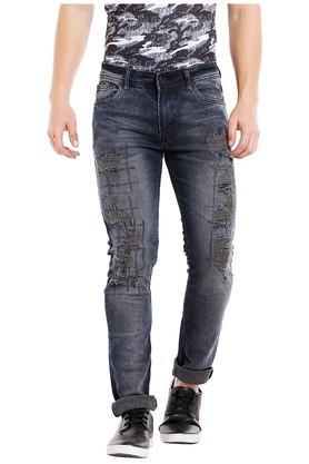Mens Slim Fit Distressed Jeans