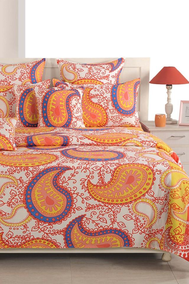 Ethnic Single Bed Sheet with 1 Pillow Cover