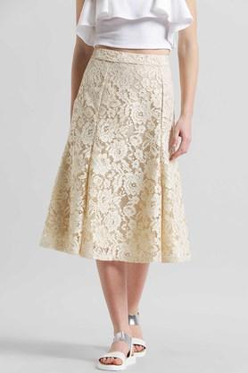 ZINK LONDON Womens Knee Length Lace Skirt