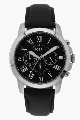 FOSSIL Mens Leather Chronograph Watch - FS4812IE