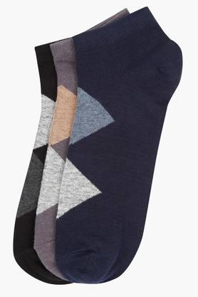 STOP Mens Printed Socks Pack Of 3 - 203141187