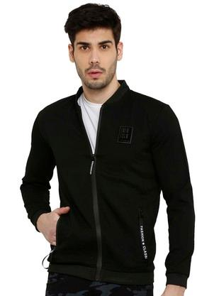 Mens Mandarin Neck Solid Sweatshirts
